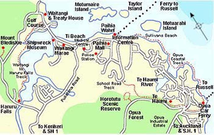 Maps of paihia and the surrounding area