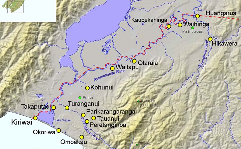 Wairarapa New Zealand Map.The Antecedents Of Martinborough The Historical Roots Until 1880